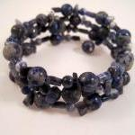 Bracelet, Adjustable Blue L..